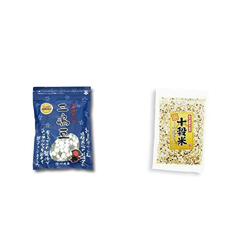 [2点セット] 飛騨 打保屋 駄菓子 三嶋豆(150g)・国産原料使用 十穀米(300g)