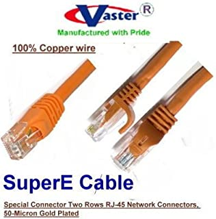 UL 24Awg 100/% Copper 7 Ft UTP Cat5e Beige//Grey Color Ethernet Network Patch Cable SuperEcable SKU-20672