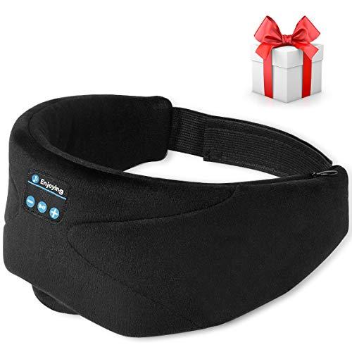 Schlafkopfhörer Bluetooth,Bluetooth Schlafmaske, 2020 Kabellose 5.0 Bluetooth Augenmaske, Lichtblockierende, bequem und abwaschba, Extreme Klangqualität, Bluetooth Kopfhörern mit HD-Stereo-Sound,