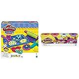 Play Doh Cookie Creations (Hasbro, B0307Eu9) + Pack De 4 Colores/Modelos Surtidos