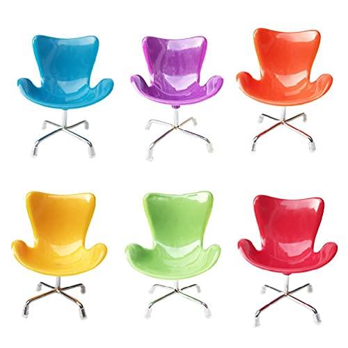 Mini sedia giocattolo, sedia giocattolo riccio Mini poltrona di plastica Giocattoli Accessori per decorazioni per gabbie Piccoli animali Forniture Puntelli per foto Colore casuale