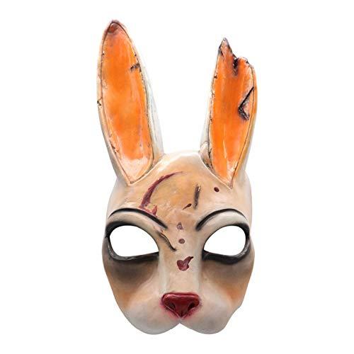WWWL Mscara de Halloween Conejo Mscara de ltex Casco de Halloween Mascarada Fiesta Cosplay Props