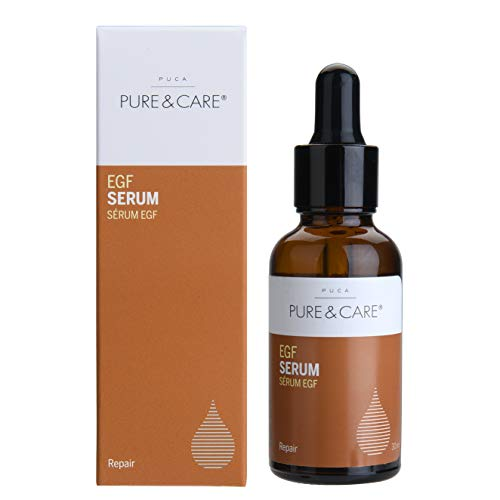PUCA PURE & CARE, EGF Serum, 1er Pack (1 x 30 ml) -EGF Serum Essence für Hautregeneration, Zellerneuerung, Zellbildung, Narben & Acne Behandlung, Feuchtigkeitspflege, antifalten antiaging