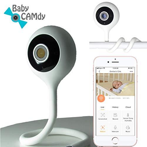 Baby CAMdy - Babyphone mit Kamera WiFi HD 1080p⎮Babymonitor Camera⎮Baby Krippe/Wiege Anbringen⎮Smart APP phone iOS/Android