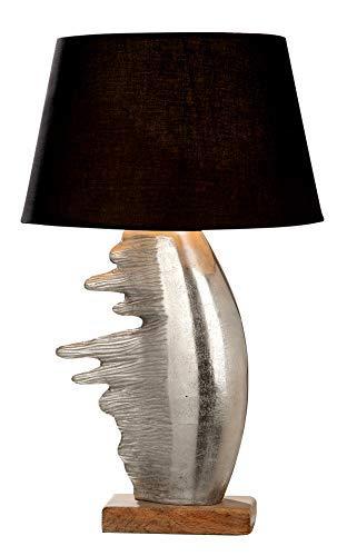 GILDE Fuego Lampe en aluminium et bois de manguier Culot E 27 max 40 W Hauteur 67 cm Largeur 27 cm Profondeur 10 cm