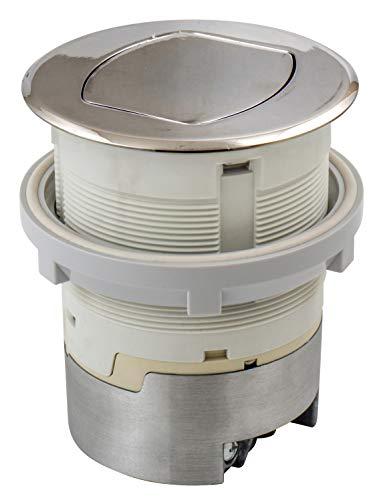 Bryant Electric RCT200NI 15A 125V Tamper Resistant Pop-Up Countertop Receptacle Flush Mount, 15 Amp, Polished Nickel