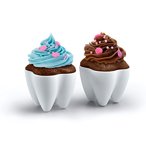 Genuine Fred SWEET TOOTH Baking Cups, Set of 4 -