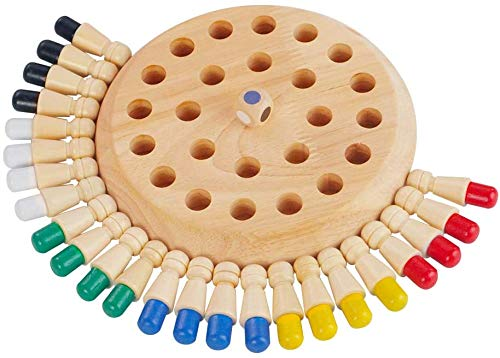 Popo Toys Wooden Memory Matchstick Chess Game, Multicolor Kids Intelligence Game I Made in India,Multicolor