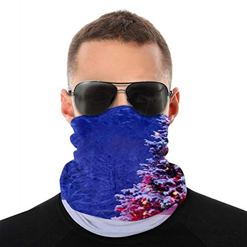 Animierter Weihnachtsbaum-Sturmhaube-Gesichtsschal, multifunktionale Kopfbedeckung für Männer, 3D-Staubschal Sonne UV-Staub Windschutz für Camping im Freien, Laufen, Motorradfahren, Angeln, Jagen