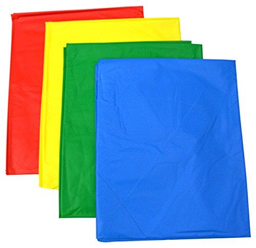 Set van 4 Heavy Duty Tafel/Vloerhoezen, 150 cm x 150 cm - Ideaal voor rommelig spelen, één van elke kleuren