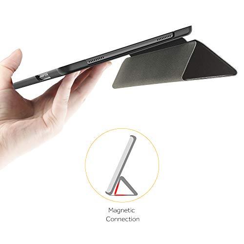 EasyAcc Hülle Kompatibel mit Samsung Galaxy Tab A7 10.4 2020-Ultra Dünn mit Standfunktion Slim PU Leder Smart Schutzhülle Passt Kompatibel mit Samsung Galaxy Tab A7 10.4 2020 SM-T500/SM-T505,Schwarz