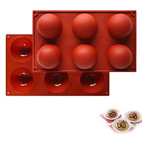 ddmlj Silicone 6 Trous Petit Moule À Gâteau Demi-Cercle Outils De Cuisson Sphériques Bricolage Savon À La Main Moule À Chocolat
