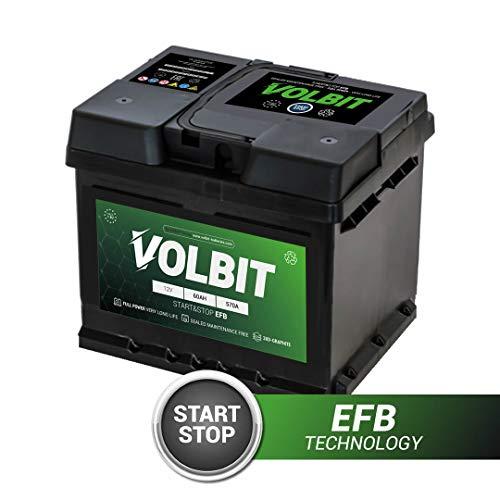 BATTERIA AVVIAMENTO VOLBIT START&STOP EFB 60AH AMPERE 570A EN 242 x 175 x 190 MM