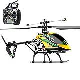 meetgg - elicottero radiocomandato, 4 canali con resistenza agli urti e giroscopio telecomandato, per bambini e adulti