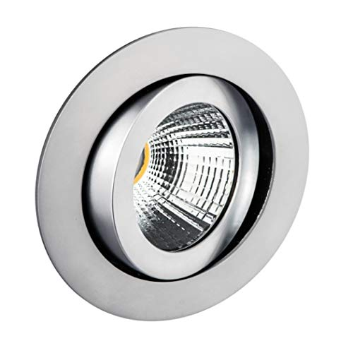 DELUNA® LED-Alu-Einbaustrahler schwenkbar Dim to Warm chrom matt