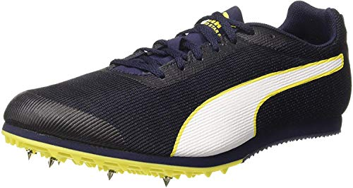 PUMA Herren Evospeed Star 6 Leichtathletikschuhe, Schwarz (Peacoat Black-Blazing Yellow), 43 EU