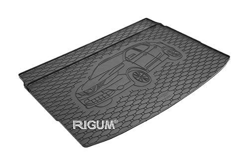 RIGUM Passgenaue Kofferraumwanne geeignet für Nissan Qashqai ab 2014 + Autoschoner MONTEUR