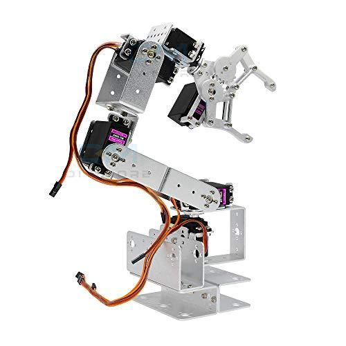 diymore 6DOF Full Metal Robot Arm Mecánico Robótico Clamp Claw Kit con MG996R Servos para Arduino UNO MEGA2560