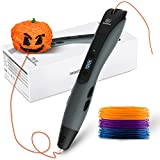GEEETECH, penna 3D per stampa 3D, schermo LCD intelligente, 1,75 mm, compatibile con...
