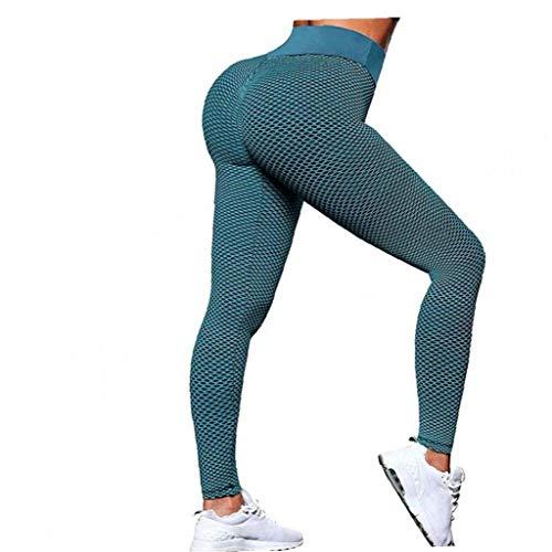 Los Pantalones de Las Mujeres de Cintura Alta de Yoga, Polainas de Entrenamiento sin Soldadura, Control del estómago Pantalones de la Yoga Fitness Medias Sports Gym Pantalones