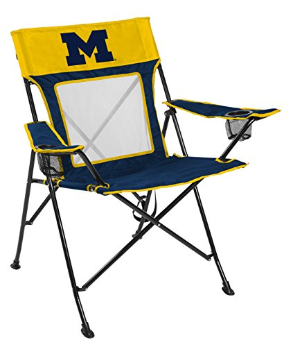 Rawlings NCAA Game Changer Large Folding Tailgating and Camping Chair, with Carrying Case (ALL TEAM OPTIONS), University of Michigan Wolverines