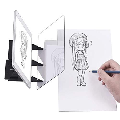 Sarplle DIY Bloque de Dibujo Óptico Tablero de Dibujo Dibujar Proyector Tabla de reflexión Copiar Bloque Kit de Pintura para Artista, niños, bocetos, Dibujo 20 * 15 cm