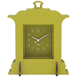WOLF 333641 Jigsaw Grand Mantel Clock, Green