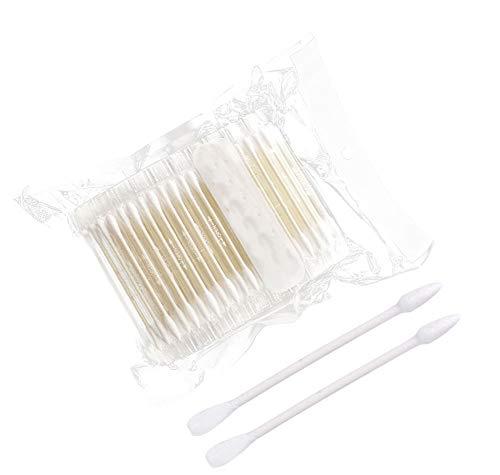 Coton-tige 200 PCS enveloppé individuellement, tête à spirale à deux têtes/tête ronde