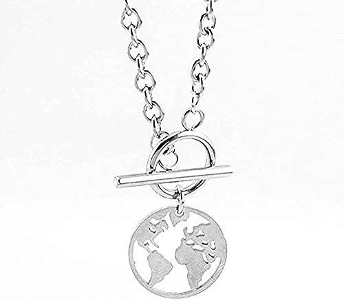 LBBYMX Co.,ltd Halsband mode stål kort hänglås kvinnor halsband långt halsband guldfärgat hjärta halsband krage boho gåva