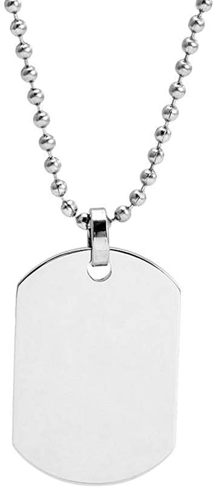 mart EVE'S ADDICTION Small Stainless Pendant Tag Dog safety Steel