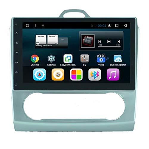 Radio TOPNAVI 2Din pour Ford Focus 2008 2009 2010 2011 (Automatique) Android 7.1 Navigation GPS pour Voiture Stéréo WiFi 3G RDS Lien Miroir FM AM Bluetooth Audio Vidéo