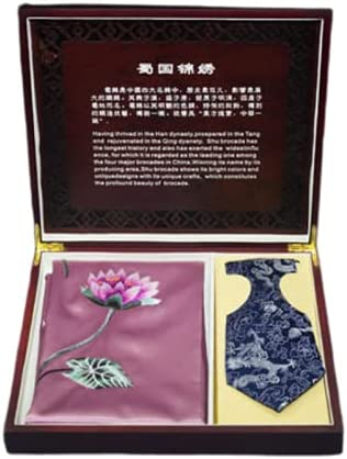 Shu brocade embroidery scarf and tie gift box set Popular brand 67% OFF of fixed price in the world
