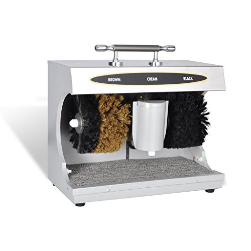Festnight Schuhputzmaschine Schuhputzautomat Schuh Poliermaschine mit 200 ml Schuhcreme