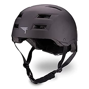 Flybar Dual Certified CPSC Multi Sport Kids & Adult Bike And Skateboard Adjustable Dial Helmet,Black,M-L