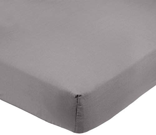 AmazonBasics Microfibre Fitted Sheet, Double, Dark Grey