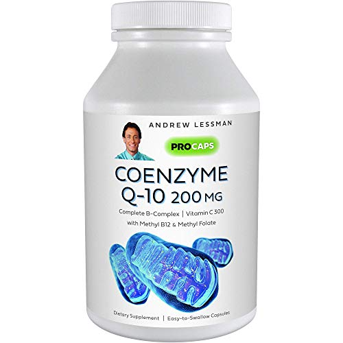 Andrew Lessman Coenzyme Q-10 200 mg 120 Capsules – Essential for Energy Production and Optimum Key Organ Function, Anti-Oxidant Support, Depleted by Aging, Plus B-Complex. Easy to Swallow Capsules