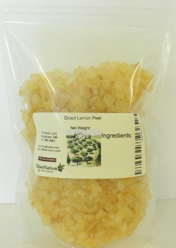 OliveNation Double Diced Candied Lemon Peel, Finely Chopped for Cooking, Baking, Edible Decoration, Non-GMO, Gluten Free, Kosher, Vegan - 32 ounces