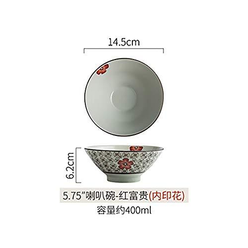 LLDKA Ciotola di Ceramica Creativa Giapponese tagliatelle Ciotola di Instant Noodles zuppiera Grande Ciotola Ristorante Studenti Ciotola casa,8