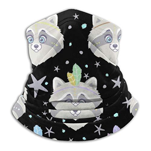 senob Nahtlose Waschbär Kopfbedeckung Halsmanschette Wärmer Winter Skiröhrchen Schal Maske Fleece Gesichtsbedeckung Winddicht Für Männer Frauen Personalisiert