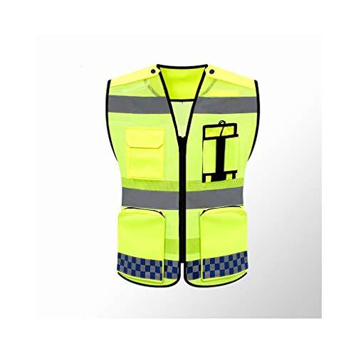 chaleco trabajo Patrulla de seguridad, Chaleco de seguridad de alta visibilidad nocturna, Chaleco reflectante, Chaleco reflectante de seguridad for el tránsito de bicicletas / Correa de construcción n