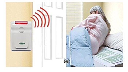Wireless Bed exit Alarm with Long Term Bed Sensor pad (no Alarm in patient's Room.