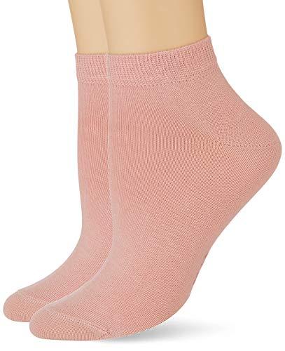 FALKE Damen Happy 2-Pack W SN Socken, Rosa (Blossom 8645), 39-42 (UK 5.5-8 Ι US 8-10.5) (2er Pack)
