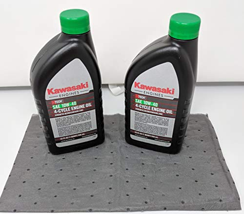 Kawasaki Pack of 2 99969-6296 Genuine OEM K-Tech SAE 10W-40 4-Cycle Engine Oil and Pad