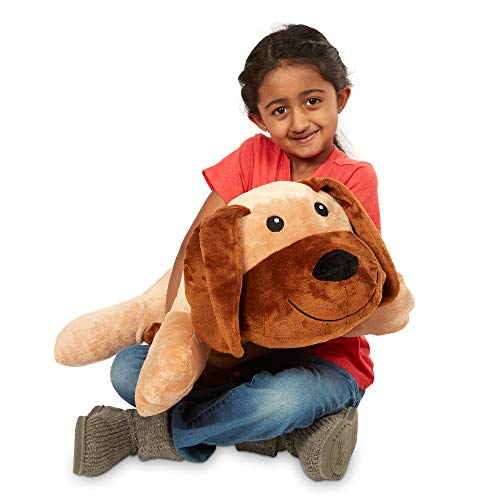 Melissa & Doug Cuddle Dog Jumbo Plush Stuffed Animal with Activity Card