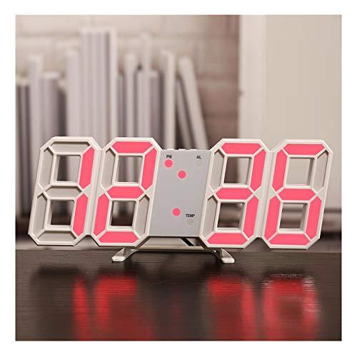 Adornos Relojes de pared 3D LED grande LED Reloj de pared Digital Tiempo Celsius Nightlight Mostrar mesa Escritorio Reloj despertador Desde la sala de estar, Accesorios para el hogar decorativos Muro