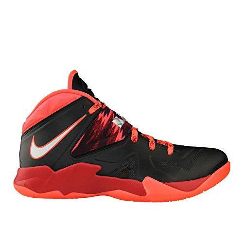 Nike Herren Lebron Zoom Soldier VII PP Basketball shoes-black/Metallic/Rot, - schwarz/red - Größe: 28.5 EU