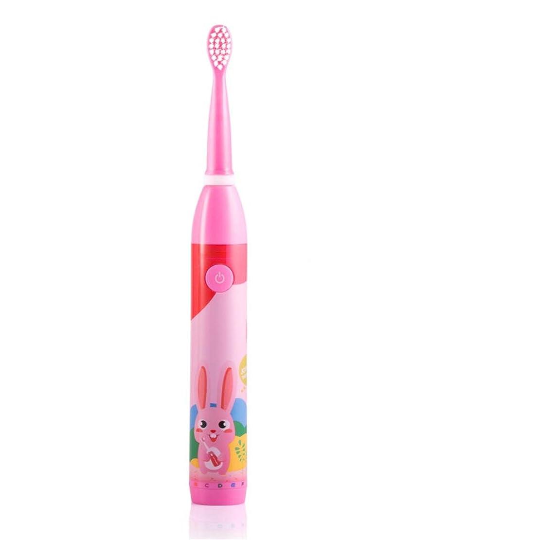 設計トレーダー即席電動歯ブラシ 子供のための適切な子供の電動歯ブラシUSB充電式防水歯ブラシ日常の使用のための2-5歳 大人と子供向け (色 : ピンク, サイズ : Free size)