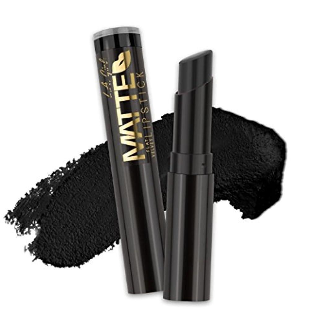 コメント祈る処理する(3 Pack) L.A. GIRL Matte Flat Velvet Lipstick - Raven (並行輸入品)