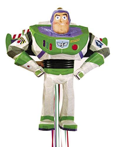 Unique Party- Pixar Buzz Lightyear Toy Story Pinata, avec Ficelle a Tirer, 66155