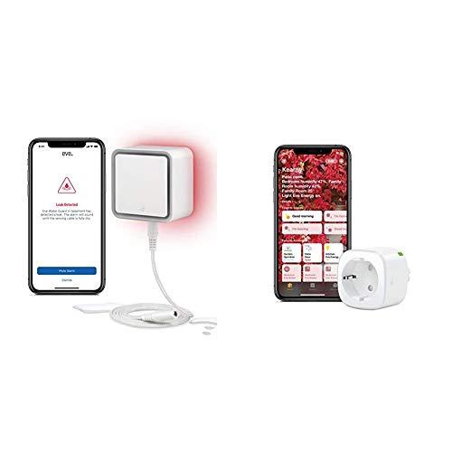 Eve Water Guard - Smarter Wassermelder, 2m Sensorkabel (verlängerbar), 100dB + Eve Energy - Smarte schaltbare Steckdose (deutsche Markenqualität), TÜV Zertifiziert, Verbrauchsmessung